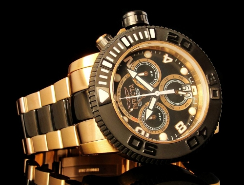 Мужские часы Invicta 11162 Sea Hunter Swiss Made Gold