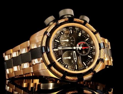 Мужские часы invicta 80548 reserve bolt gold swiss made chronograph