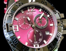 invicta 18317 woman excursion swiss made chronograph genuine leather