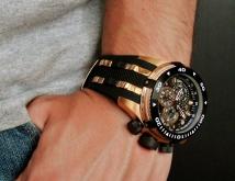 мужские часы invicta 0980 reserve bolt swiss made gold