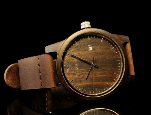 Мужские часы Galtree Tramp Black Украина Дерево