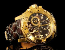Женские часы Invicta 18323 Excursion Swiss Made Gold Chronograph