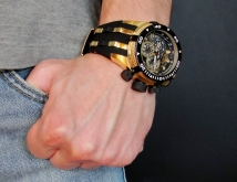 мужские часы invicta 0980 reserve bolt swiss made gold