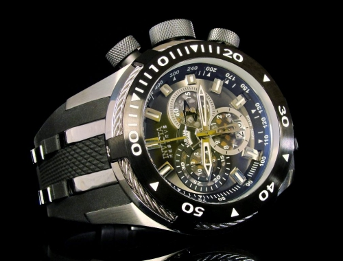 invicta 0976 reserve bolt swiss made chronograph