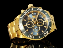 invicta 18005 sea base limited edition gold swiss made chronograph 500m