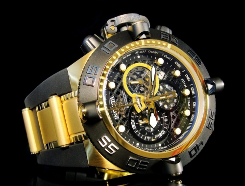 invicta 6583 subaqua noma iv swiss made chronograph gold