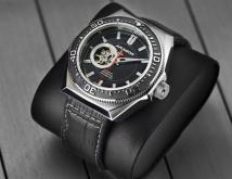 Мужские часы Aragon A383BLK Open Heart