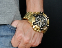 invicta 15827 arsenal octane swiss movement gold chronograph